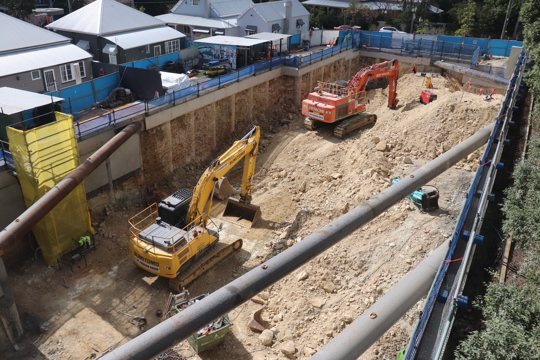 Time lapse images of a construction site